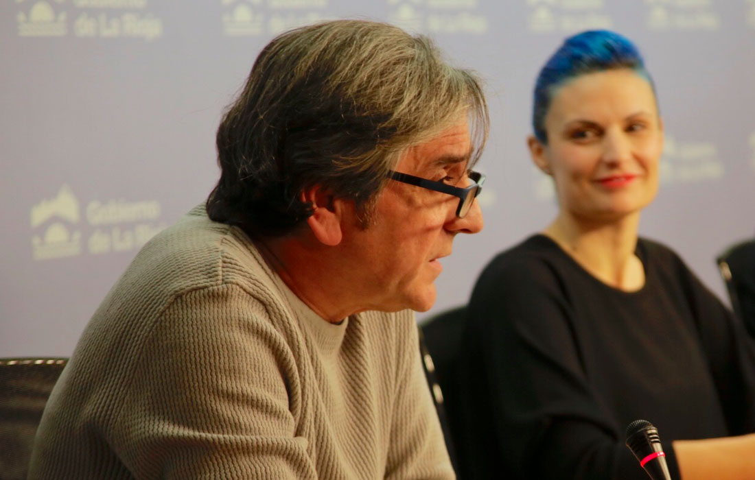 José Carlos Balanza y Marina Pascual en la presentación a medios del MUSEO DE ARTE CONTEMPORÁNEO DEL CAMINO en Logroño en diciembre
